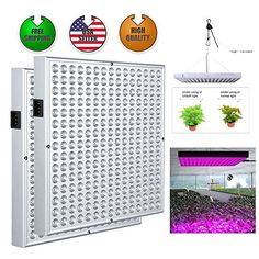 2Pack 45W 225 LED Grow Light Panel Spectrum Full Hydroponic Flower Plants >>> Check out the image by visiting the link.