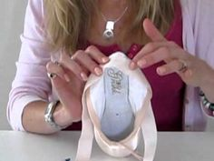 Super easy way to sew pointe shoe ribbons. Really similar to how one of my teachers taught me.