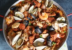 Paella with Chicken, Chorizo, Shrimp, Mussels and Clams - Was the time put in worth it? Absolutely. It was amazing.