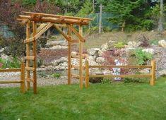 cedar rail arbour western red fencing