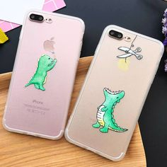 Super Cute Cartoon Dinosaur Clear Case For iphone 7 Case For iphone7 6 6S Plus 5 5S Phone Cases Back Cover Capa Fundas Coque NEW
