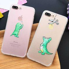 Super Cute Cartoon Dinosaur Clear Case For iphone 7 Case For iphone7 6 6S Plus 5 5S Phone Cases Back Cover Capa Fundas Coque NEW