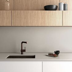 Essastone Ash Concrete is the perfect choice for a clean, minimal kitchen👌 Minimal Kitchen, Concrete Kitchen, Credenza, Minimalism, Contemporary, Cabinet, Storage, House, Benches