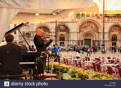 Gran Caffè Quadri. Piazza San Marco / St Mark's Square / Markusplatz Stock…