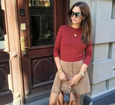 Obsessed with this Topshop suede skirt