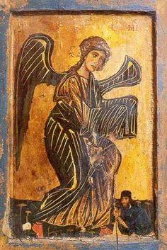 Archangel Michael, icon from the Monastery of St. Catherine, Mt. Sinai, Egypt, 12th century.