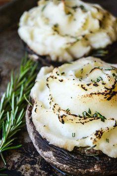 Individual shepherd's pies in portobello mushroom caps are a delicious twist on my favorite comfort food!