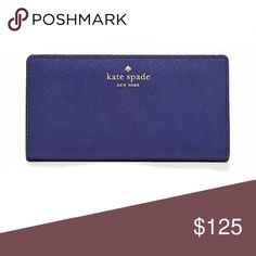 Kate Spade Minkas Pond Stacy Wallet Kate Spade Minkas Pond Stacy Wallet • Emperor Blue • Used lightly, so it is in practically new condition • NO flaws • NO TRADES *Will post actual photos within 24hrs* kate spade Bags Wallets