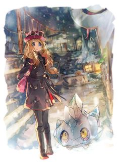 "Snowbelle by Namface (Namie-kun, Australia) ""doodle loosely based on the photo spot in the area!"" Pokemon {digital, 2014}"