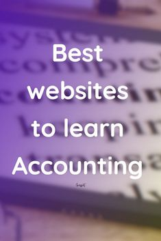 Best websites to learn accounting Online Accounting Classes, Accounting Notes, Learn Accounting, Accounting Education, Accounting Basics, Accounting Student, Bookkeeping And Accounting, Accounting And Finance, Business Education