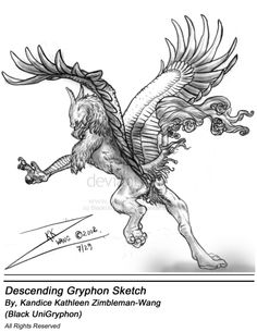 Desending Gryphon by BlackUniGryphon on deviantART