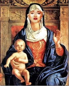 Madonna - Celebrities Painting in Renaissance Style
