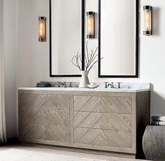 Solid wood bathroom Vanity - Any Size, Finish Available Zen Bathroom, Modern Master Bathroom, Bathroom Sets, Bathroom Storage, Bathroom Interior, Small Bathroom, Bathroom Plants, Bathroom Trends, Bathroom Hacks