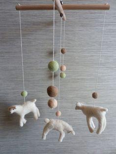 Crib Mobile, Baby Nursery Lambs