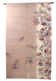 Kasane Studio Handwoven Hemp NOREN Aki No Kage (Autumn Shadow) you can buy direct from Japan