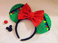 Minnie Mouse Ears christmas edition by CrazyBeautifulCreati