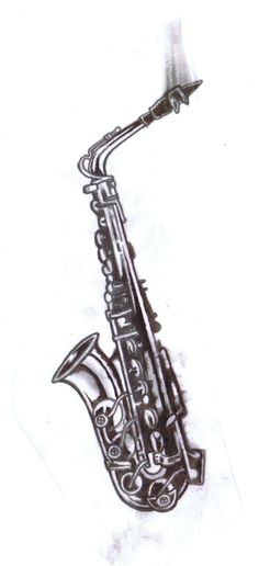 60e6b4f02 Saxophone tattoo model by ~Somniphorius on deviantART Saxophone Tattoo,  Jazz Instruments, Reindeer Antlers