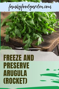 Arugula is a popular addition to any salad. Family Food & Garden's guide about this spicy green tells you everything you need to know about this cold weather-friendly herb. Also known as rocket or roquette, it does not thrive in warm weather. Follow our tips and strategies on how to freeze and preserve arugula to include in your meals when you won't find any in the garde and you'll be happy all year-round. Download our guide here… #arugulaorrocket #freezearugula #preservearugularoquette Regrow Vegetables, Healthy Fruits And Vegetables, Homemade Sauce, Garden S, Arugula, Freeze, Preserves, Family Meals, Warm Weather