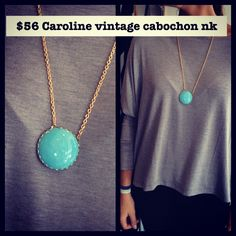Caroline necklace  vintage glass and 18k gold plated chain