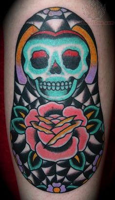 Matryoshka With Skull Tattoo