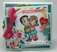 Here is my DT card for the new Digi release at Some Odd Girl Stamps called Best Friends Tia and Tobie! Project Board, Copics, I Card, Best Friends, Thankful, Scrapbook, Gallery, Handmade Cards, Projects