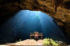 Phraya Nakhon cave, Thailand. Kuha Karuhas pavillon in the cave wasbuilt for the visit of King Chulalongkornin 1890.