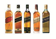 Whisky Johnnie Walker Red Label, Black Label, Gold Label, Blue Label