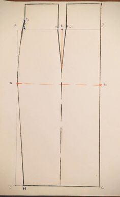 Patrón para elaborar una falda lápiz de talle alto
