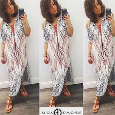 Mixing prints & keeping cool with the cold shoulder. An easy go-to for the Spring/Summer!  SEARCH: Anastasia Maxi Ashlee Gladiator  SHOP: http://ift.tt/1rNgIir CODE: FREESHIP at checkout