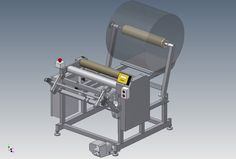 Stretch film rewinding machine - STEP / IGES,AutoCAD - 3D CAD model - GrabCAD