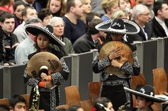 MEXICAN MUSIC: Mexican musicians attended Pope Benedict XVI's general audience at the Vatican Wednesday. (Evandro Inetti/Zuma Press)