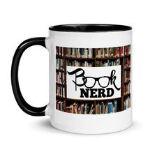 Books and hot beverages go hand-in-hand.literally one in each hand! Get your favorite book nerd their new favorite mug! Mug Rack, Ceramic Mugs, Book Nerd, Spice Things Up, Color Splash, Book Lovers, The Book, Good Books, Coffee Cups