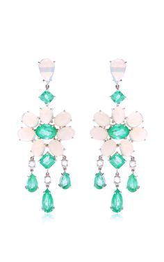 18K White Gold, Emerald, White Opal and Diamond Earrings by Nina Runsdorf - Moda Operandi $25,000 http://modaoperandi.com/nina-runsdorf-gg14/mother-of-pearl-yellow-sapphire-and-mexican-fire-opal-earrings