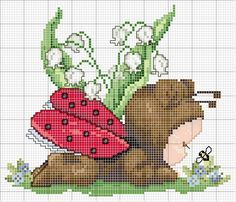 "Ellen Maurer-Stroh ""Ladybug's Baby"" ~ Saved from Megghy Com Baby Cross Stitch Patterns, Cross Stitch For Kids, Cross Stitch Baby, Cross Stitch Animals, Cross Stitch Designs, Cross Stitching, Cross Stitch Embroidery, Embroidery Patterns, Hand Embroidery"