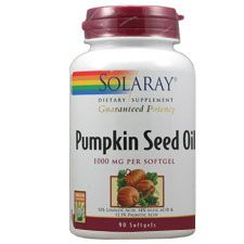 Pumpkin Seed Oil 1000 Mg, 90 Softgels, Solaray