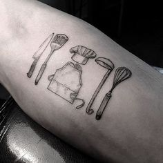 11 Tiny Food Tattoos for Those Who Love Food Too Much