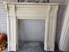 New Orleans Salvaged Fireplace Mantle In Old Ochre Chalk Paint And Gold Gilding Wax