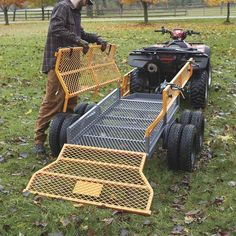 This handy Bannon Utility Trailer features a large x steel bed to haul loads up to lbs. Atv Dump Trailer, Atv Utility Trailer, Quad Trailer, Trailer Diy, Trailer Plans, Trailer Build, Trailer Storage, Trailer Hitch, Utv Trailers