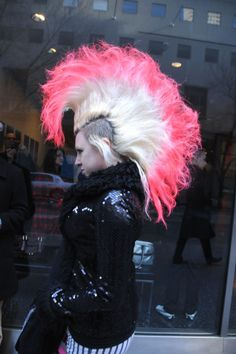 punk, pink, hair,
