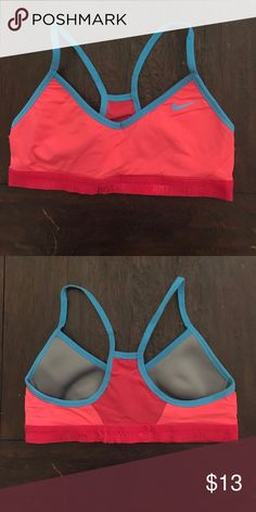 Nike Sports Bra, small Nike Sports Bra, small, Coral Color with Blue Lining Nike Intimates & Sleepwear Bras