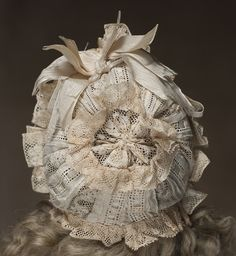 Antique French original Bonnet for Jumeau Bru Steiner Bebe doll from respectfulbear on Ruby Lane