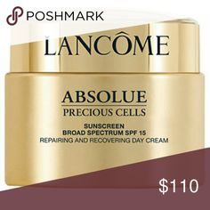 Lancome absolute precious cells day cream Retails for $188 I used it 2 times. It's really great. Large size no box. Lancome Makeup