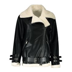 65.24$  Buy now - http://dihyh.justgood.pw/go.php?t=205306003 - Buckles Zippers Faux Shearling Jacket 65.24$