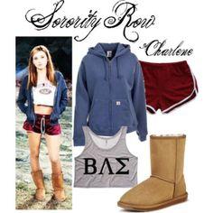 Sorority Row #SororityRow #MargoHarshman #CharleneChugsBradley Sorority Row, Bae, Luxury Fashion, Graphic Sweatshirt, Sweatshirts, Sweaters, Outfits, Shopping, Collection