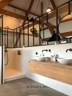 Cozy House, Double Vanity, Small Bathroom, Future House, Home And Garden, Minimalist, House Design, Mirror, Furniture