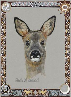 Items similar to Roe Deer with Celtic Borders Archival print on Etsy Celtic Border, Celtic Images, Roe Deer, Celtic Knot, Runes, Knots, Moose Art, Symbols, Handmade Gifts