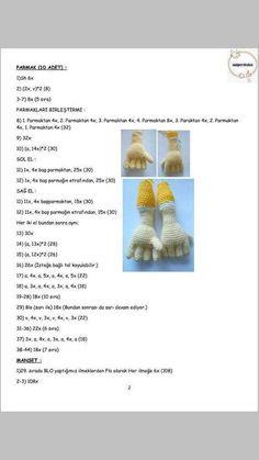 PALYAÇO Doll Patterns, Crochet Patterns, Amigurumi For Beginners, Crochet Disney, Amigurumi Tutorial, Amigurumi Toys, Giraffe, Origami, Free Pattern