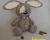 Crochet bunny. Bunny  like a  Fizzy Moon. Forever friends.Crochet  PDF pattern