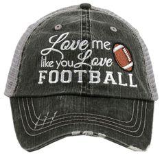 Love Me Like You Love Football Wholesale Trucker Hats