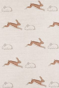 Rabbits and Hares Fabric by Emily Bond Image 1